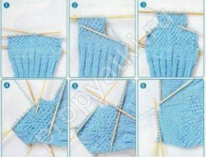 Вязание пятки на спицах для начинающих пошагово